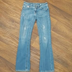Miss Me Boot Cut Distressed Jeans Size 27
